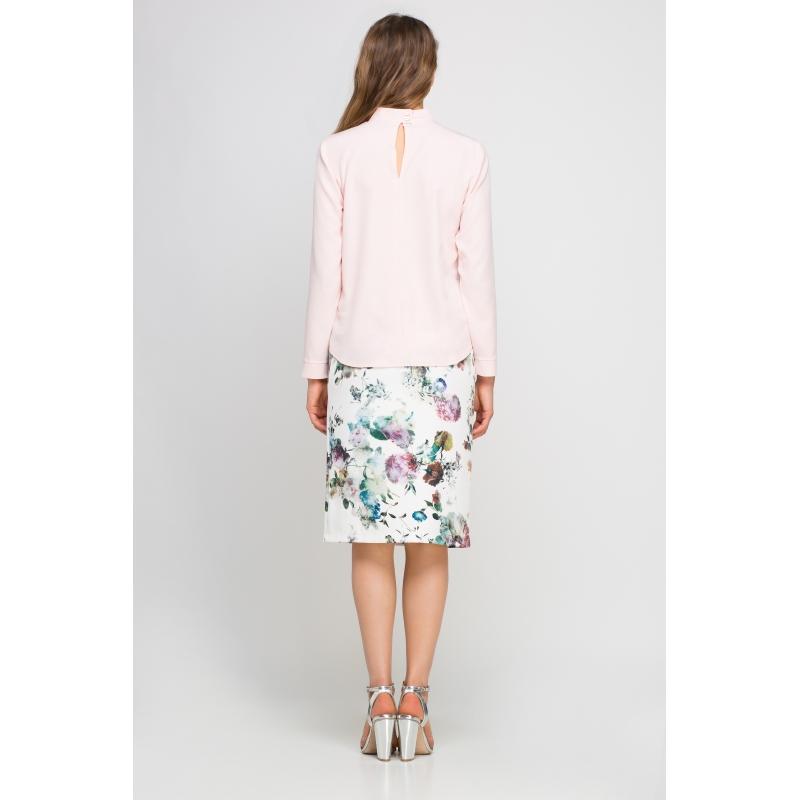 Bluza maneca lunga roz pastelat Briana