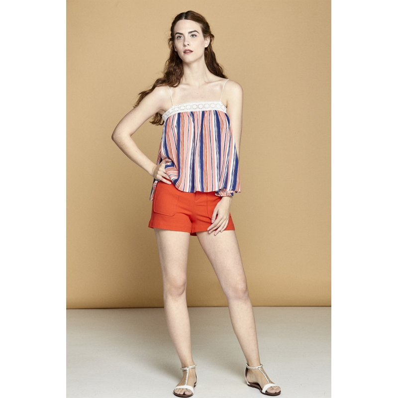 Bluza larga multicolora Piper