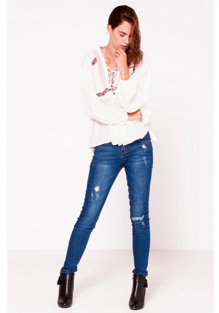 Jeans cu buzunare Carmen