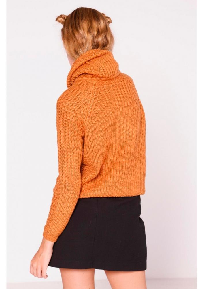 Pulover oragne guler rulat Ilinca