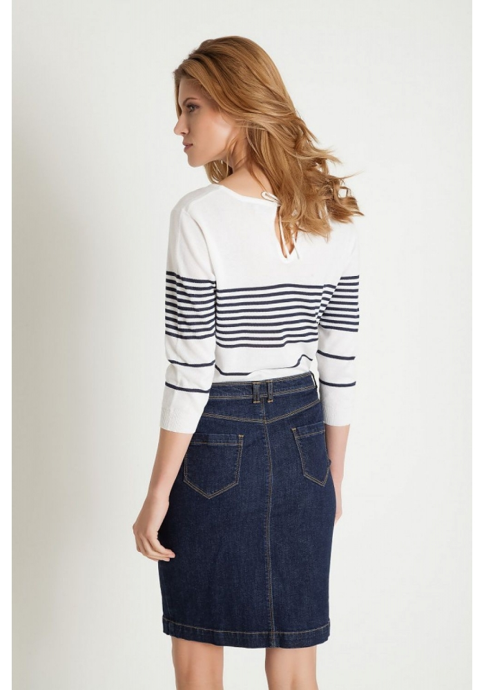 Fusta jeans cu buzunare Jenny