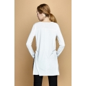 Bluza alba elastica Ermina