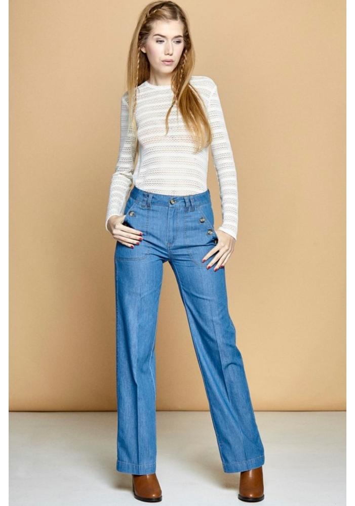 ajunge ieftin vânzarea de încălțăminte design de top CLP - Jeans largi drepti Camila