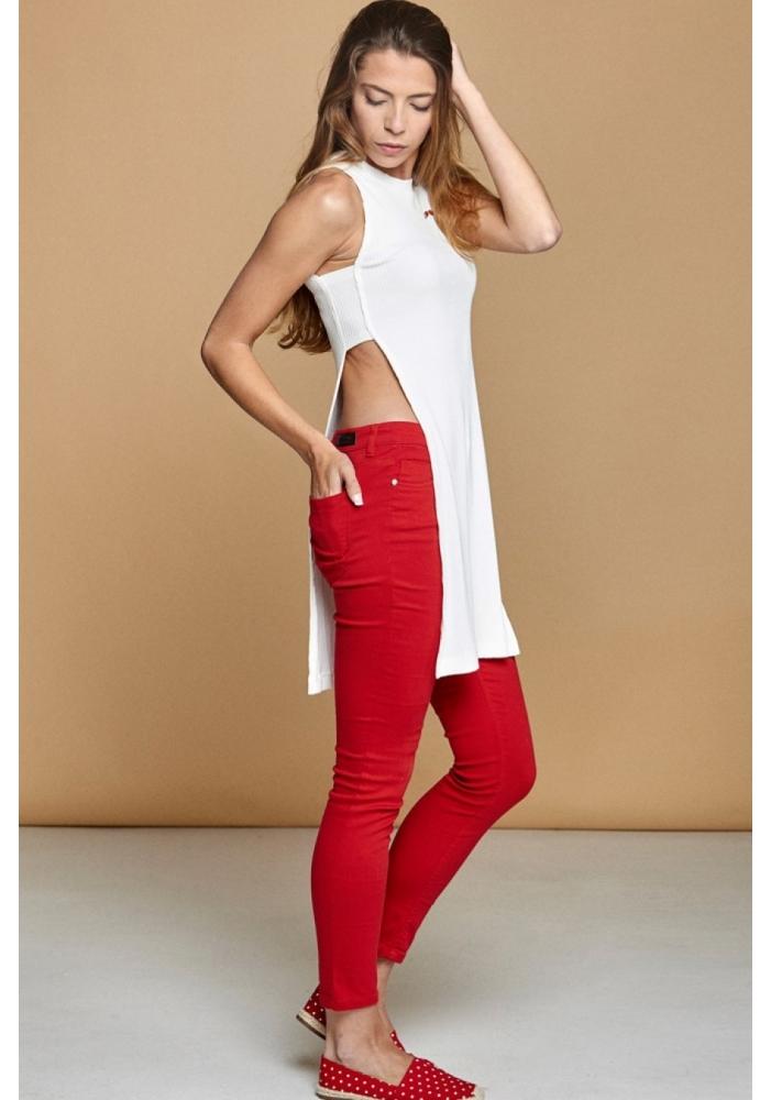 Pantaloni skinny rosii Anne
