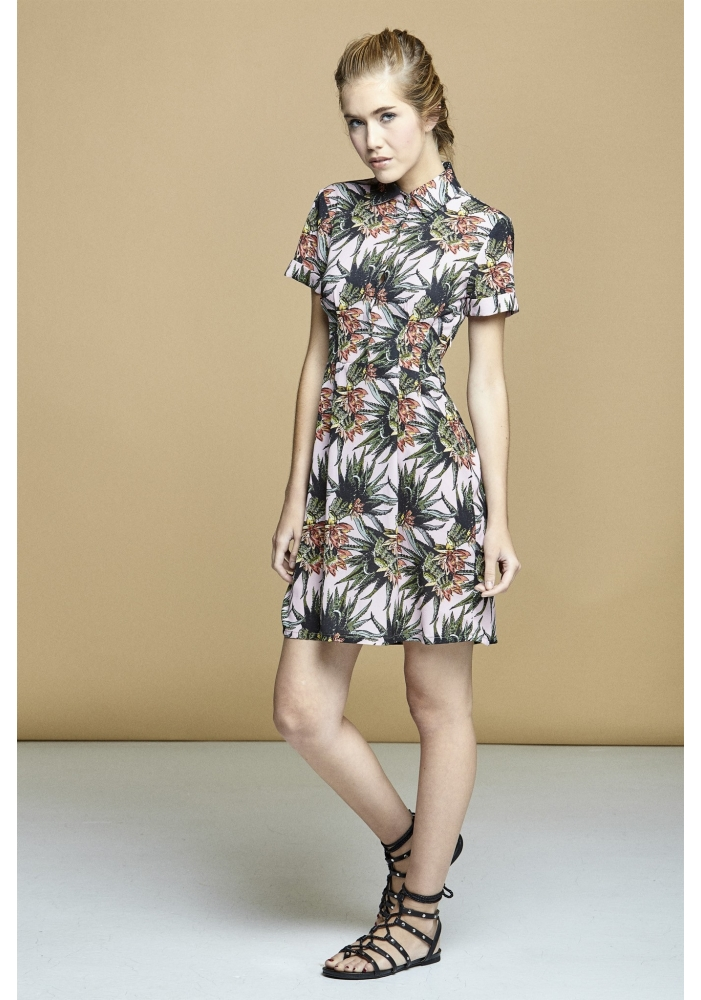 Rochie print tropical Isabela