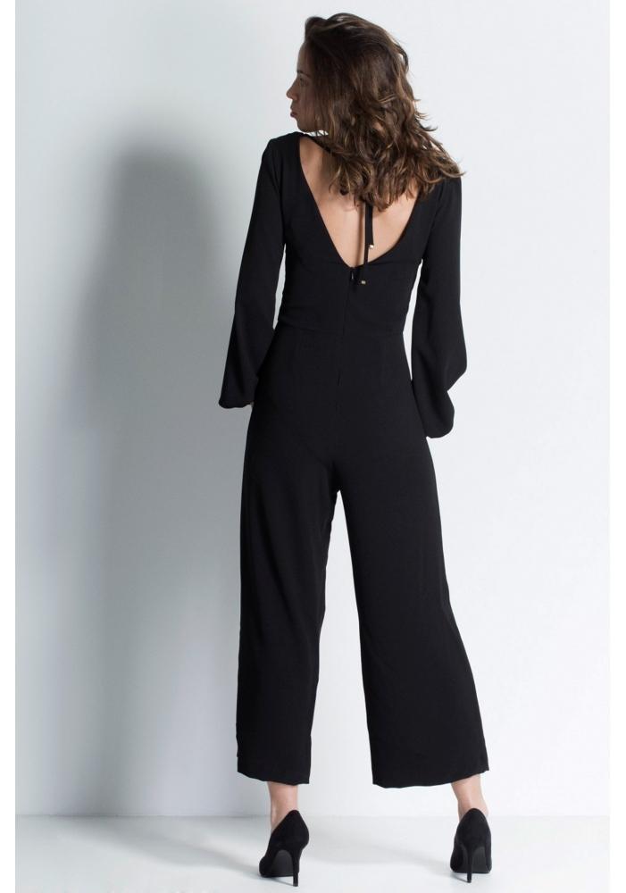 Salopeta eleganta pantalon trei sferturi Elle