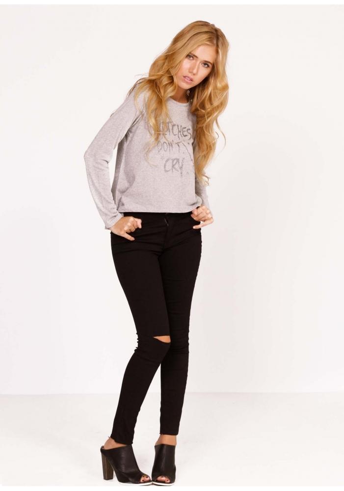 Jeans cu taietura Melisa