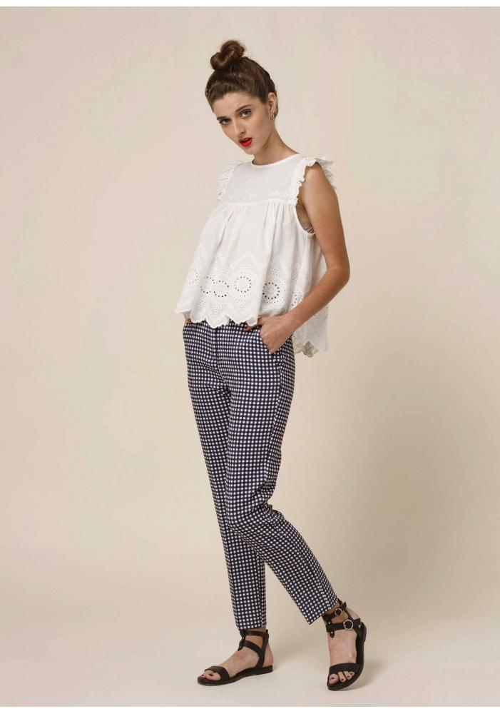 Pantaloni conici cu model Kari