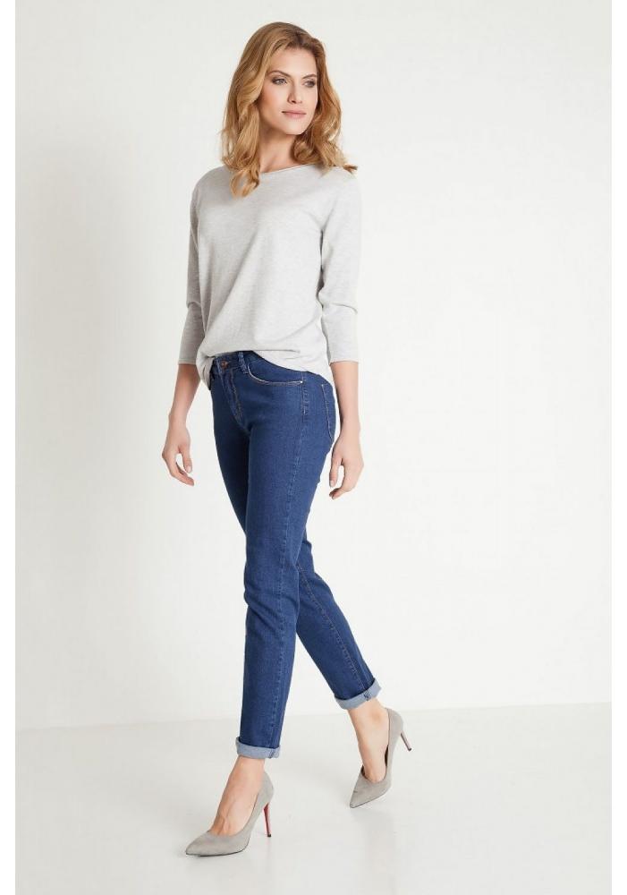 Jeans skinny albastri Samantha