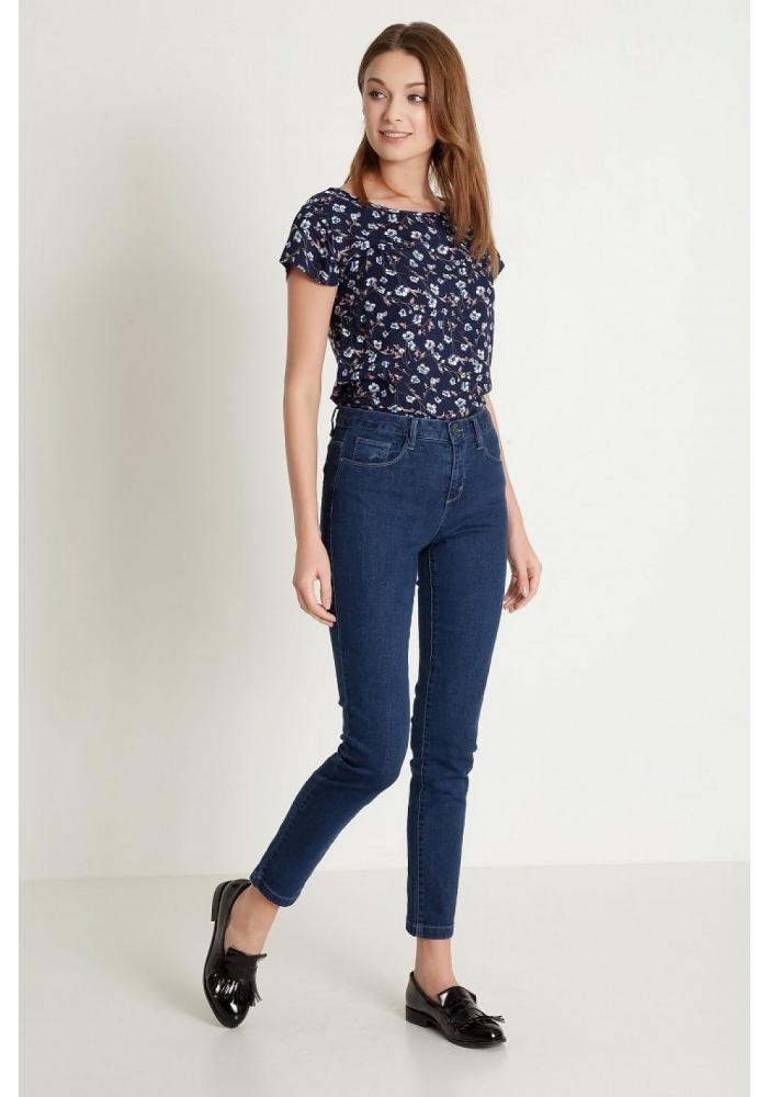 Jeans navy cinci buzunare Bree