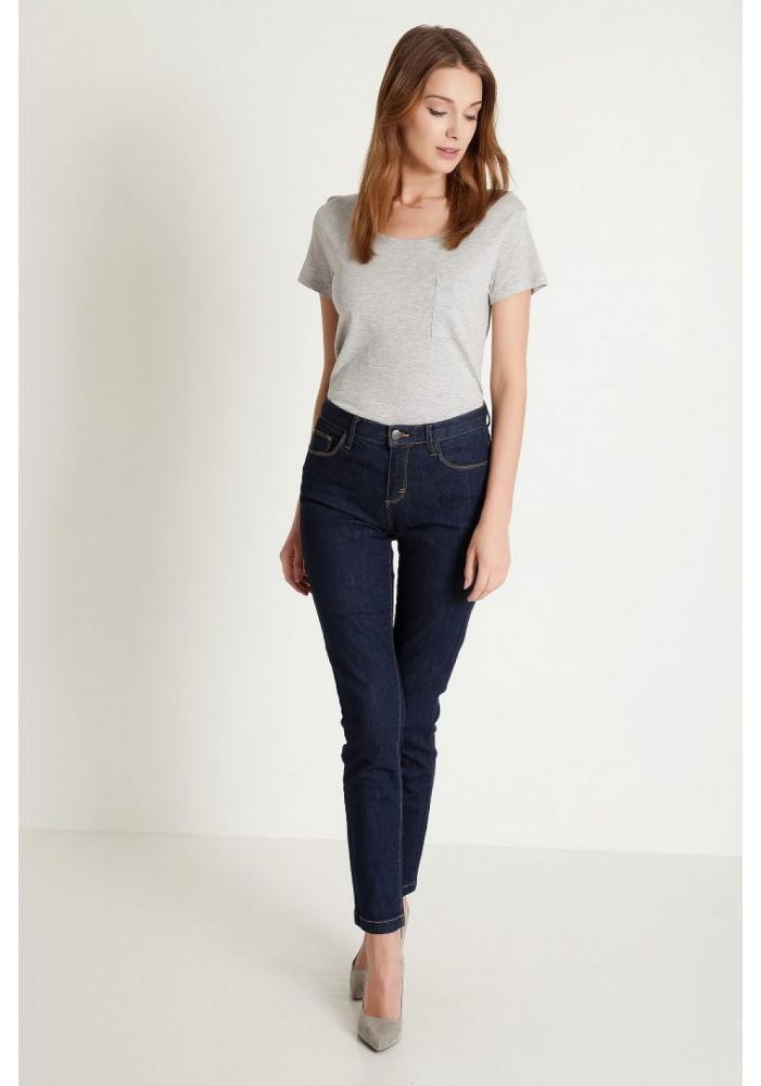 Jeans albastru inchis slim Edie