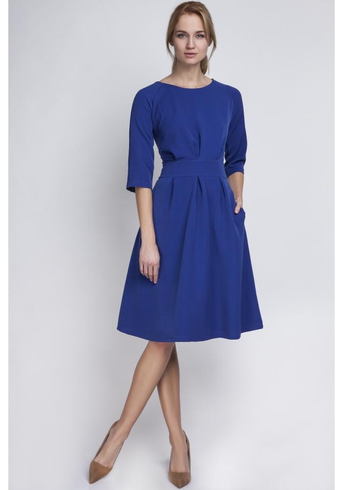 Rochie albastra clos Barbara