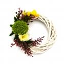 Coronita decorativa din ratan impletit cu eucalipt