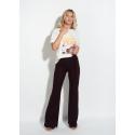 Pantaloni evazati tricotati model flare