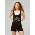 CLP - Body dama negru bumbac cu mesaj Stay Messy