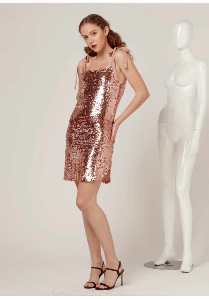 CLP - Rochie cu paiete roz mini