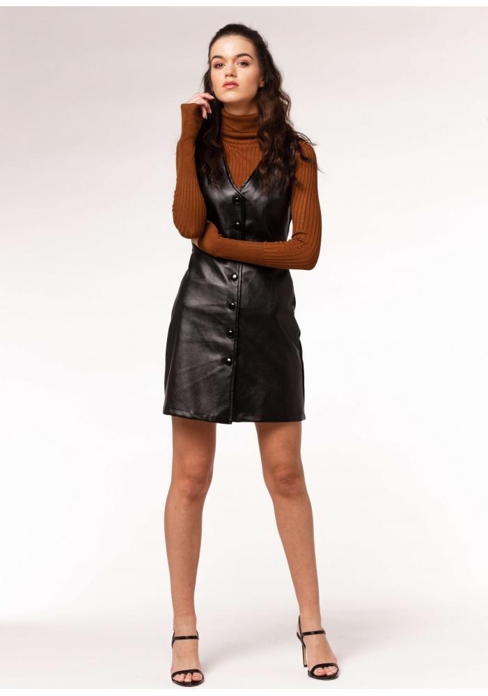 CLP - Rochie piele ecologica neagra