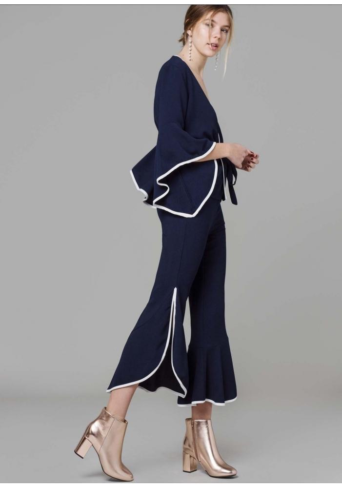 CLP - Pantaloni eleganti trei sferturi albastri