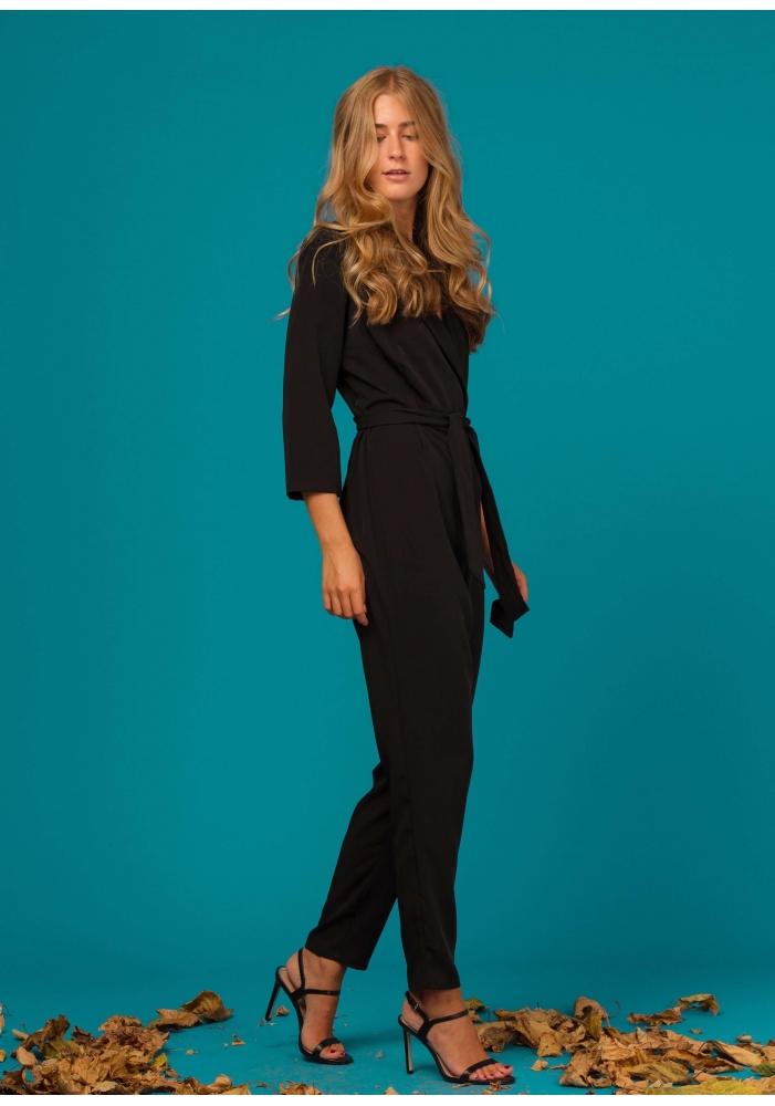 CLP - Salopeta dama neagra eleganta cu revere