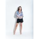 CLP - Bluza satinata eleganta dama cu imprimeu