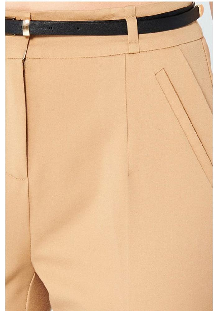 RESERVED - Pantaloni Dama crem cu curea