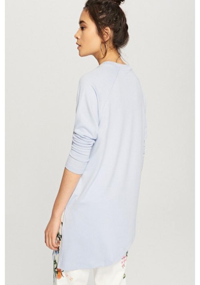 RESERVED - Bluza albastra asimetrica