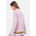 VERO MODA - Pulover roz cu fibre metalizate