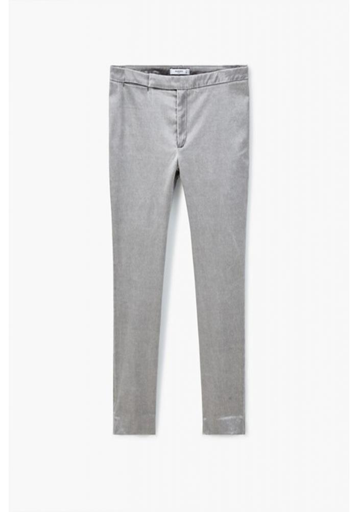MANGO - Pantaloni skinny gri sidef