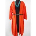 VILA CLOTHES - Cardigan lung descheiat orange