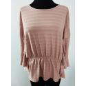VILA CLOTHES - Bluza volane roz