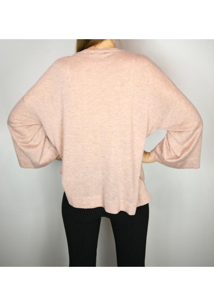 MANGO - Bluza roz cu maneci largi