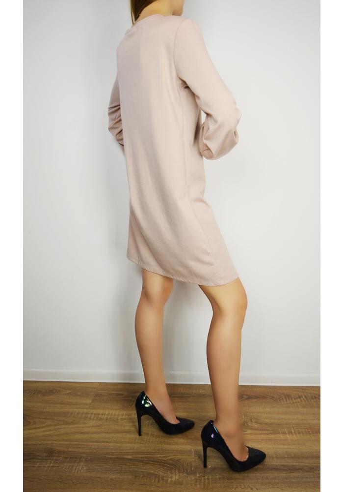VILA CLOTHES - Rochie roz material elastic