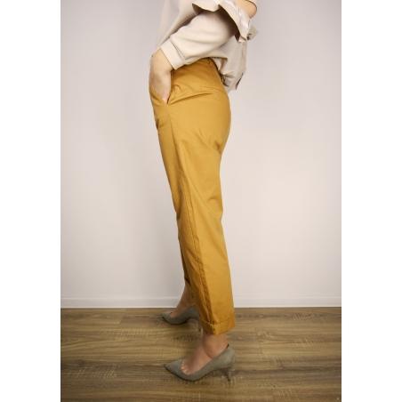 MANGO - Pantaloni maro drepti