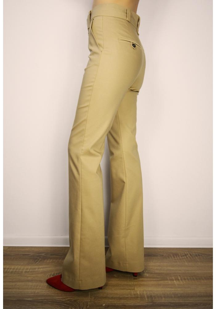 MANGO - Pantaloni office crem
