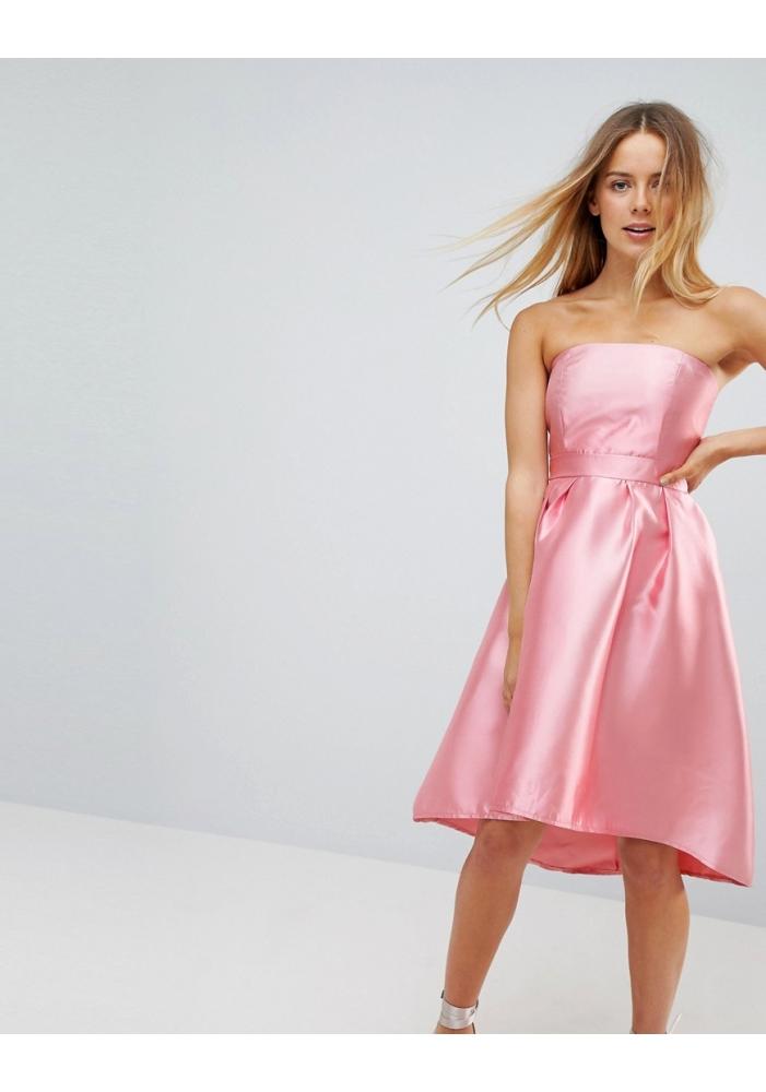 VERO MODA - Rochie roz sifon asimetrica