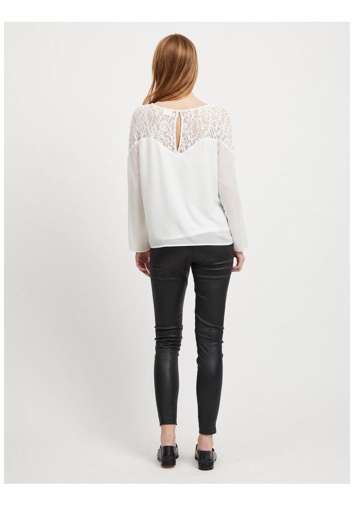 VILA CLOTHES - Bluza alba cu dantela