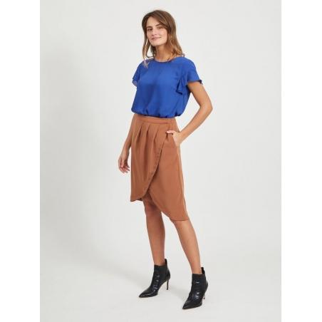 VILA CLOTHES - Fusta maro parte peste parte