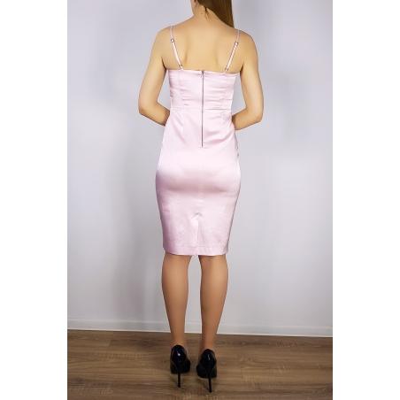 MOHITO - Rochie cambrata satinata roz