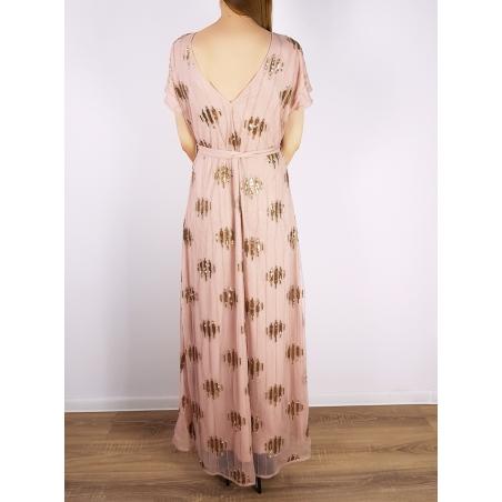 VILA CLOTHES - Rochie eleganta lunga cu paiete