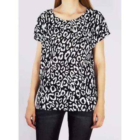 OBJECT - Bluza imprimeu alb negru lejera