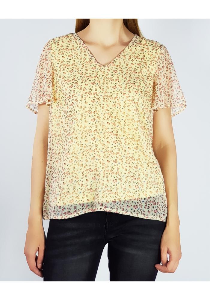 VERO MODA - Bluza casual galbena imprimeu