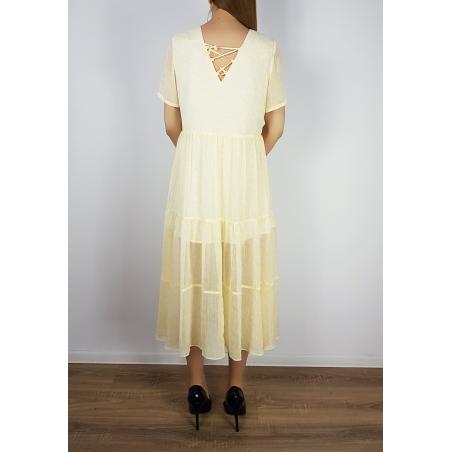 VILA CLOTHES - Rochie midi galbena voal