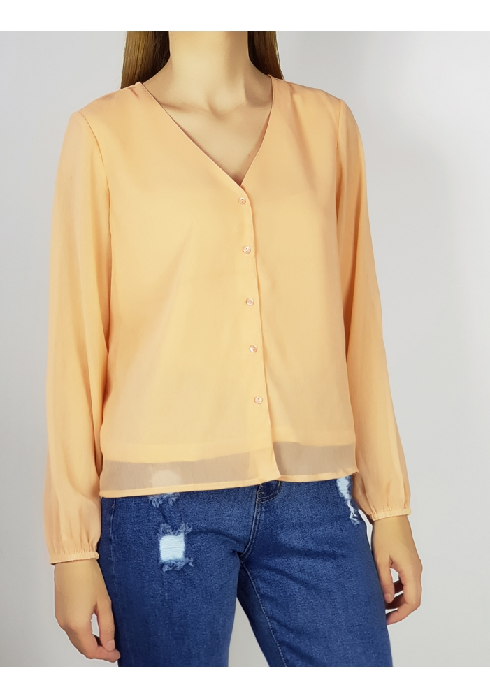 ONLY - Camasa voal orange