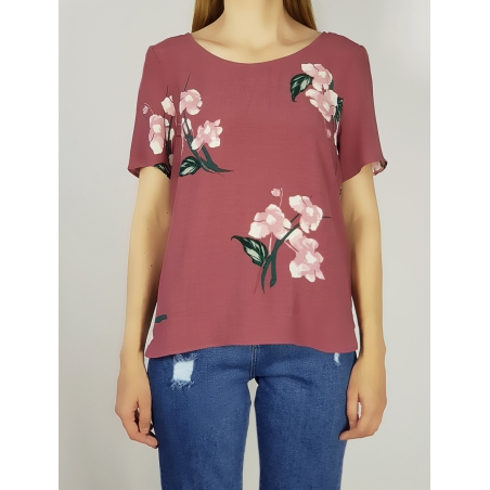 VILA CLOTHES - Tricou maneci scurte mov