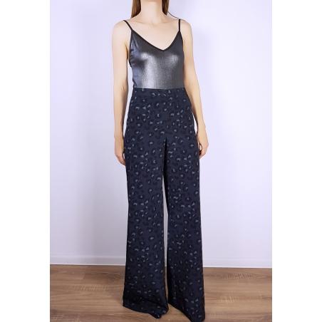 Pantaloni largi cu print Jodie