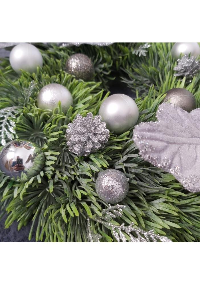 Coronita decorativa Grey Christmas