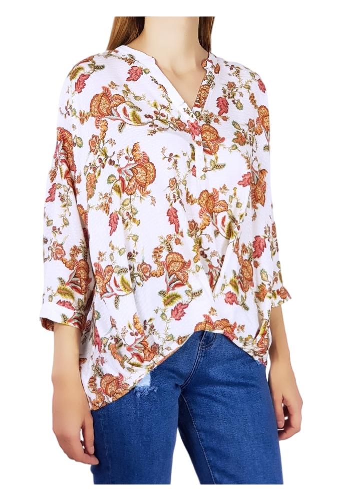 RESERVED - Bluza lejera cu flori