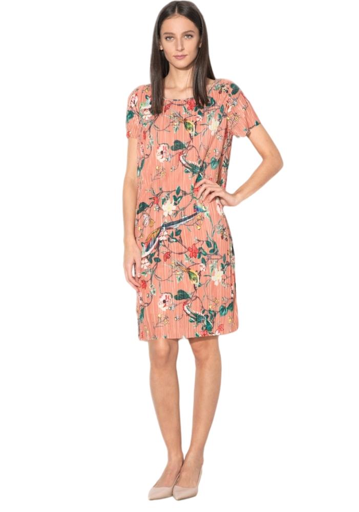 VILA CLOTHES - Rochie dreapta model cu flori